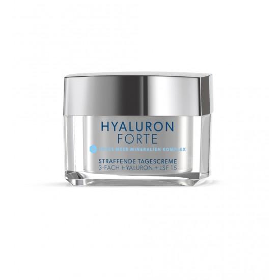 Crema de zi faciala tonifianta cu acid hialuronic forte si minerale, SPF 15 Dermasel 50 ml