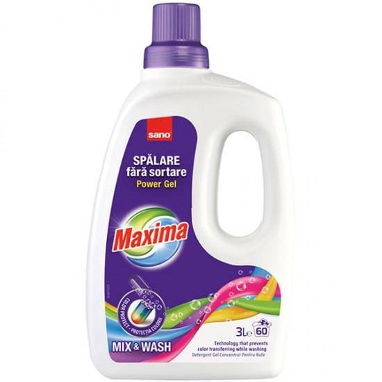 Detergent gel pentru rufe Sano Maxima Mix and Wash 3L