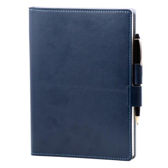 Agenda Colored, piele albastru inchis, 2021