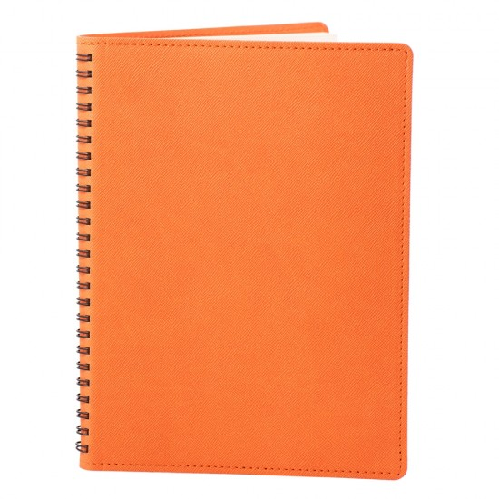 Notes 360, piele, 16x22cm, autodatat, portocaliu