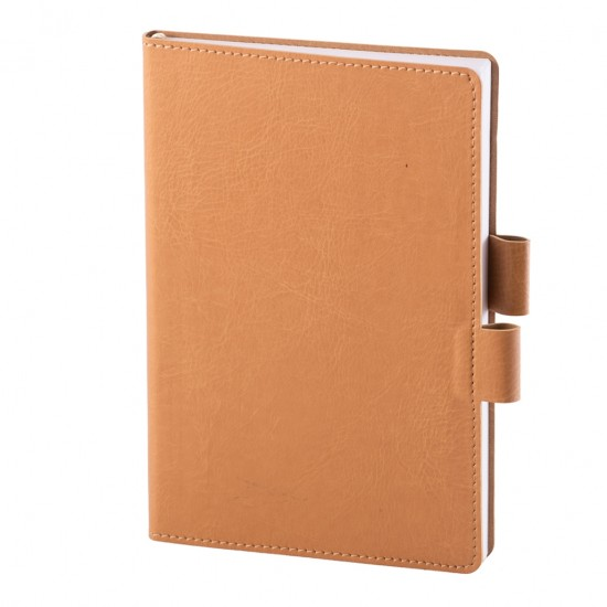 Notes Colored, piele, A5, liniat ivory, bej