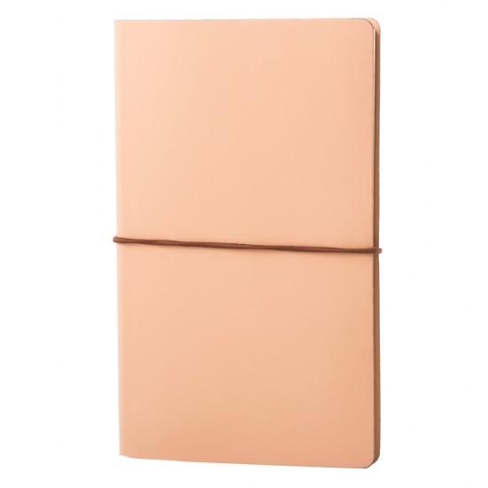 Notes EcoLeather, piele naturala regenerata, 12,5x20 cm, liniat ivory, bej