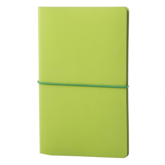 Notes EcoLeather, piele naturala regenerata, 12,5x20 cm, liniat ivory, verde