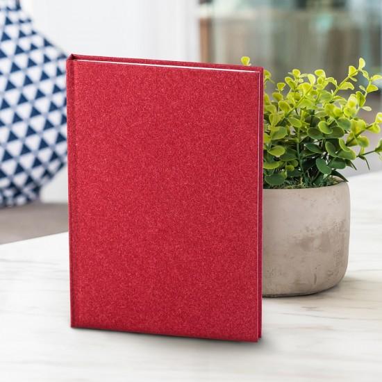 Notes Natura, A5, liniat alb, rosu