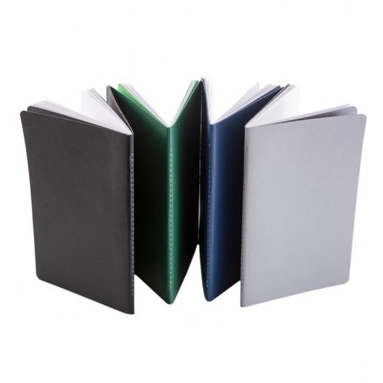 Notes Pastel, piele, 12,5x20 cm, velin, gri