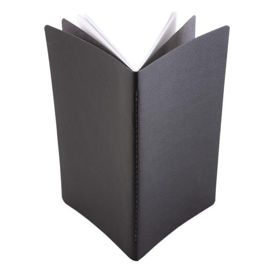 Notes Pastel, piele, 12,5x20 cm, velin, negru