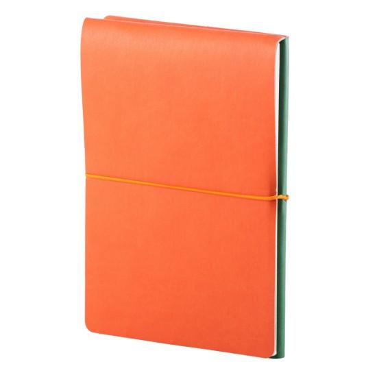Notes Switch, piele, A5, liniat + matematica, verde/portocaliu
