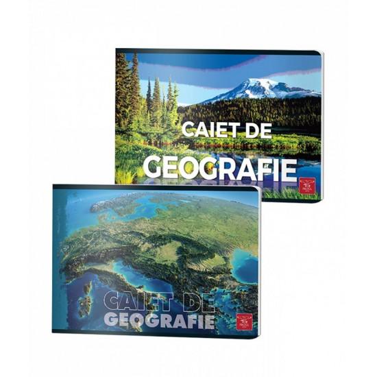Caiet capsat, cu 24 file, geografie, PIGNA 70gr