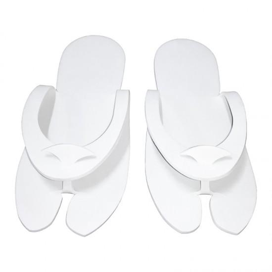 Papuci pentru SPA si cosmetica, albi, talpa 4mm HL243