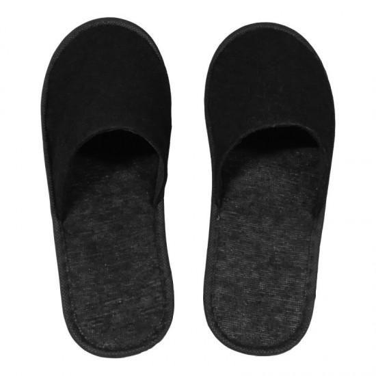 Papuci inchisi in fata din frotir negru 180g, talpa 3mm HL 113