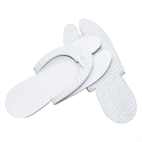 Papuci dama pentru SPA sau piscina albi, talpa 7mm HL 46