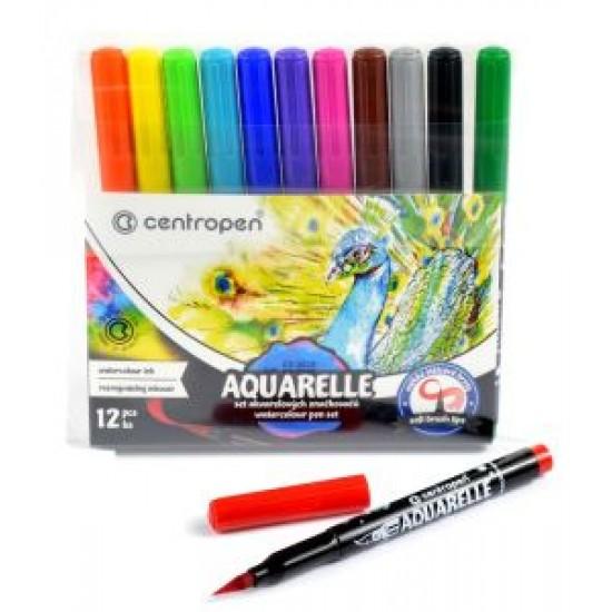 Marker Centropen 8683 Aquarelle - 12 culori/set