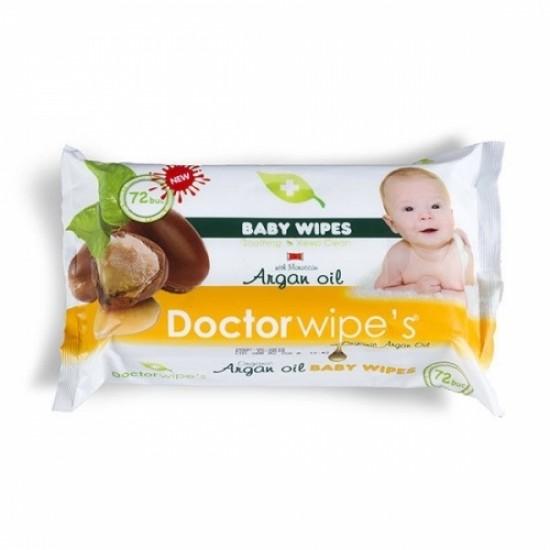 Doctor Wipes Servetele Cu Capac Ulei Argan 72 buc