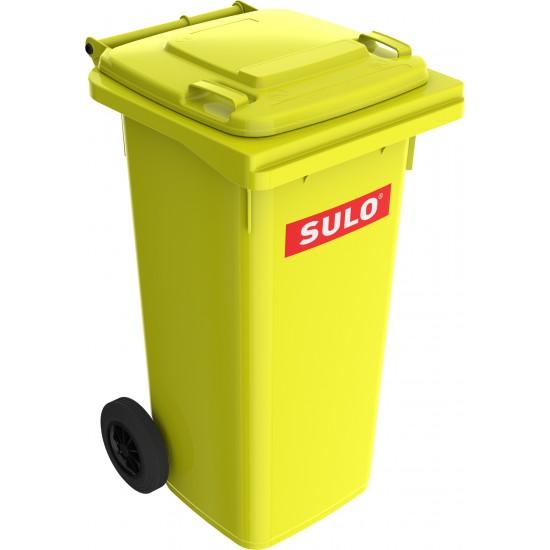 Europubela din material plastic, 120 l, culoare galben MEVATEC - Transport inclus