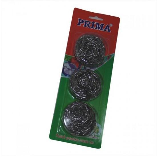 Burete sarma inox PRIMA, 3 buc.