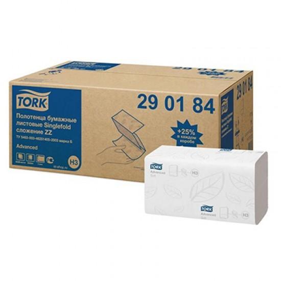 Prosoape pliate Tork, 2 straturi, 200 buc / pachet, 20 pac / bax, albe