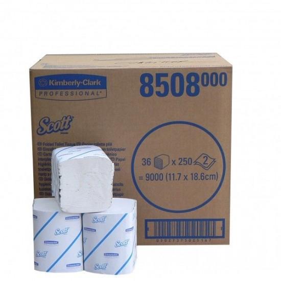 Hartie igienica bulk Scott, 2 str, 36 pachete / bax, 250 buc / pachet