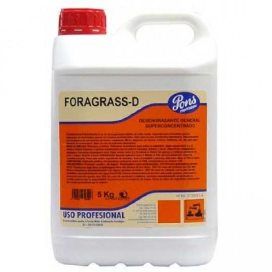 FORAGRASS D-Degresant profesional concentrat pentru orice tip de suprafata, 5L, Asevi