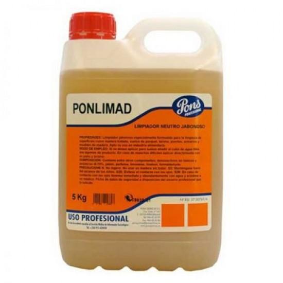 PONLIMAD Manual -detergent profesional concentrat pentru lemn si parchet, 5L, Asevi