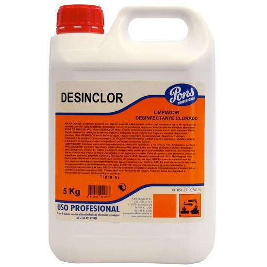 DESINCLOR-solutie igienizanta pe baza de clor-5L, Asevi