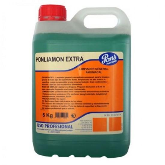 PONLIAMON EXTRA Manual -detergent profesional universal, concentrat, pentru pardoseli  5L, Asevi