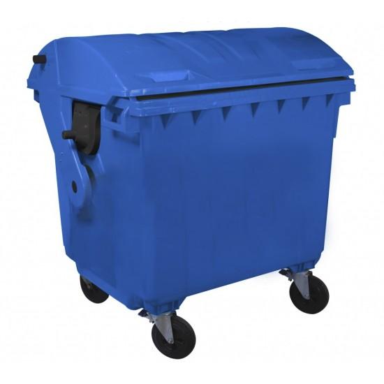 Container HDPE CLE 1100L cu capac rotund albastru - Transport inclus