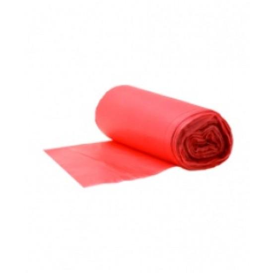 Saci menajeri 18 L, 50 buc/rola, rosii, Safir