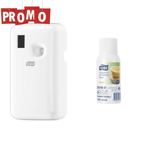 Pachet Dispenser Odorizant Tork Air si gratuit un odorizant