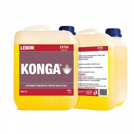 Detergent-degresant profesional pentru vase, 5 L, Konga Universal