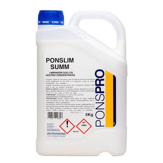 Detergent concentrat Manual pardoseli 5L Asevi Ponslim-Summ