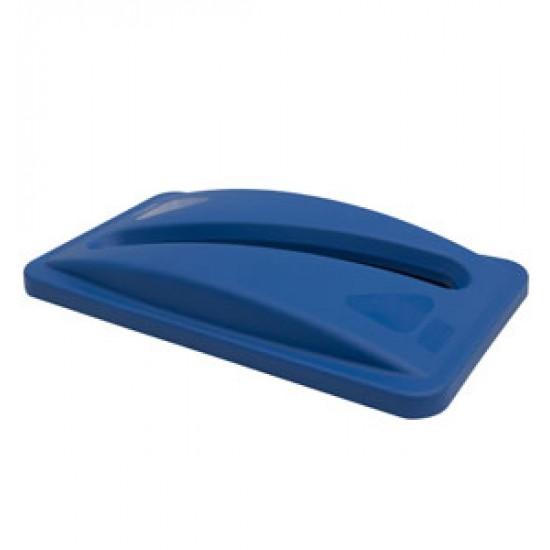 Capac deseuri hartie pentru container Slim Jim de 87 si 60 L, albastru, RUBBERMAID