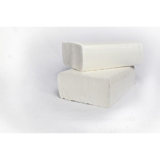 Prosoape hartie pliate V fold, 210 buc / pachet, 2 straturi laminate,  25 x 21 cm,  AQA Choice