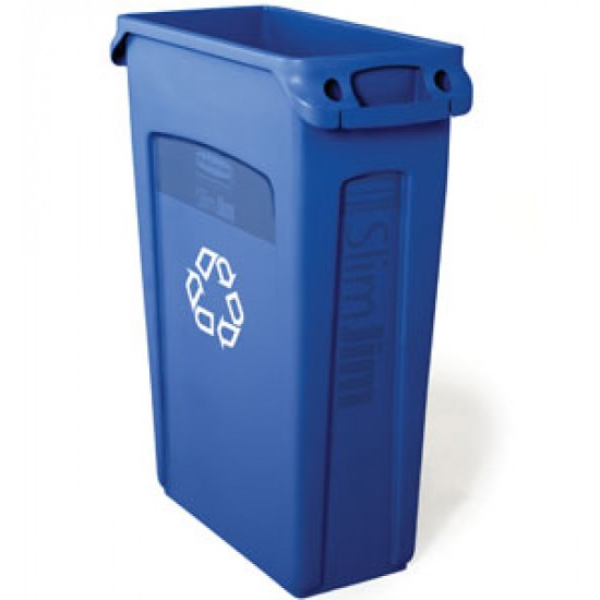 Container Slim Jim cu canale de aerisire, 87 L, albastru, RUBBERMAID
