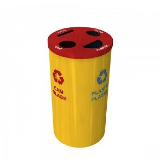 BAERUM B Cos pentru colectare selectiva cu 4 compartimente