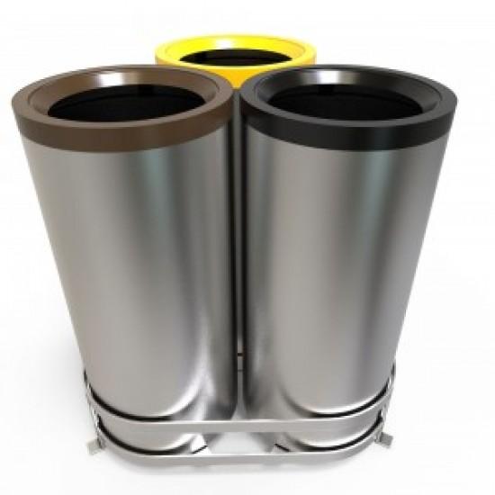 AARHUS A Cosuri moderne pentru colectare selectiva din metal sau otel inoxidabil