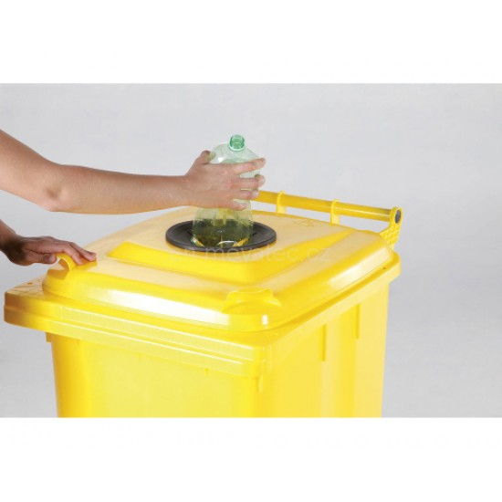 Europubela din material plastic 240 l - separare materiale plastice MEVATEC - Transport inclus