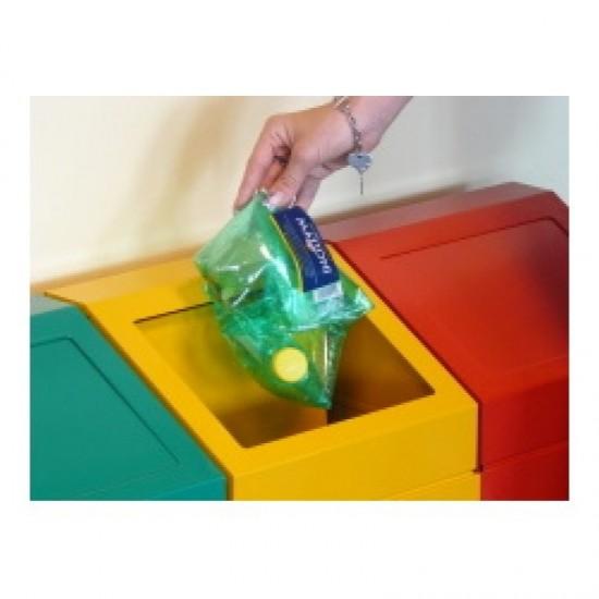 Cosuri gunoi pentru reciclare cu capac detasabil, 45 L
