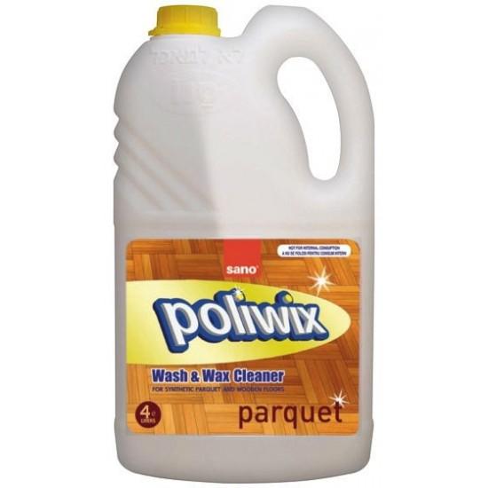 Detergent pardoseli cu ceara naturala Sano Poliwix Parquet 4L