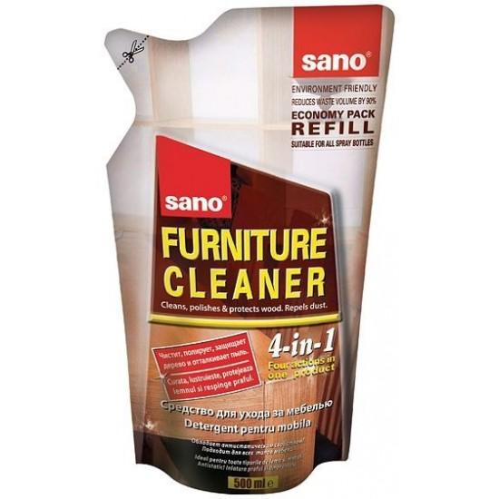 SANO FURNITURE REFILL, 500ml, detergent mobilier, formica si metal