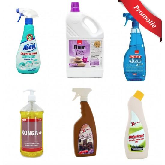 Pachet detergenti pentru curatenie si igiena