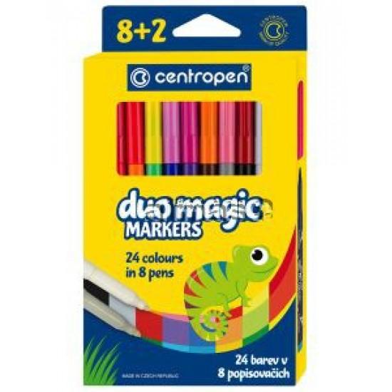 Carioca Centropen 2599 Duomagic - 8 +2 culori/set