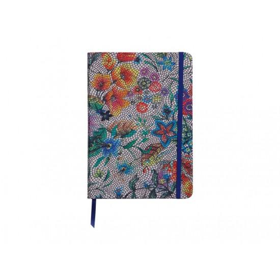 Agenda Notebook coperta moale piele, A5, 144 pagini, Clairefontaine Celeste