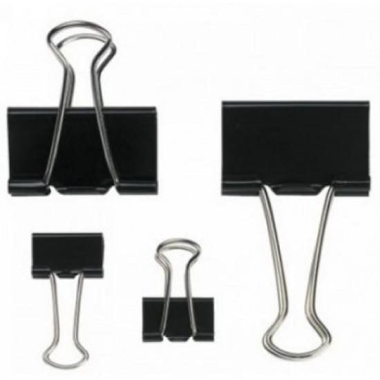 Clip metalic Binder Clips 25 mm, 12buc/cutie
