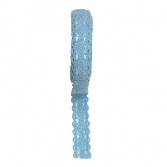 Accesorii craft - ad051 albastru dantela autoadeziva