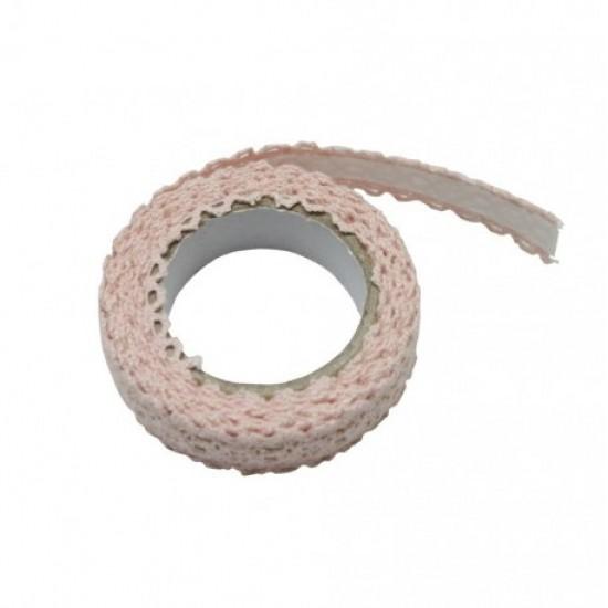 Accesorii craft - ad051 roz dantela autoadeziva