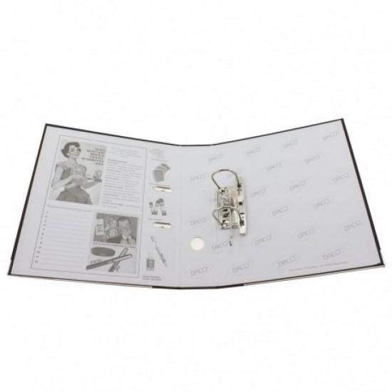 Biblioraft plastifiat 75 mm daco alb