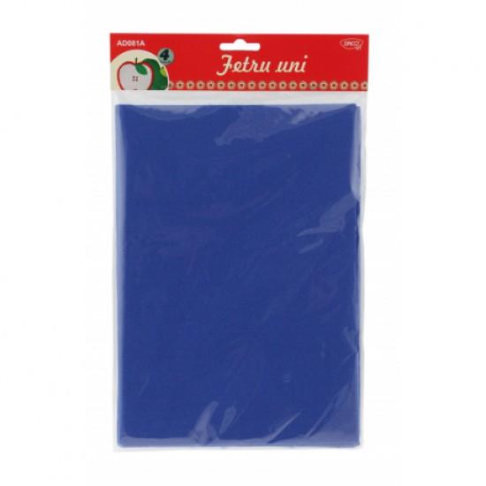 Accesorii craft - ad081a fetru uni set 4 albastru