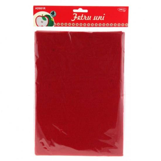 Accesorii craft - ad081r fetru uni set 4 rosu