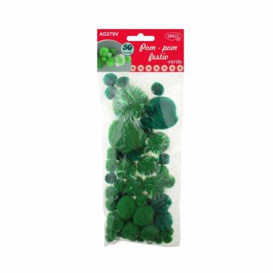 Accesorii craft - ad279v pom pom festiv verde daco