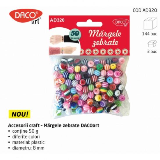 Accesorii craft - ad320 margele zebrate daco